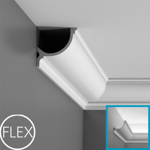 Лепнина Орак декор C902F Карниз для скрытого освещения гибкий