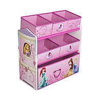 Органайзер для игрушек с ящиками Принцессы Диснея Delta Disney Princess Multi-Bin Toy Organizer Multicolor