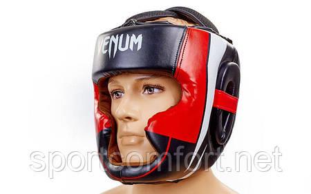 Шлем Venum Fullface кожа черный