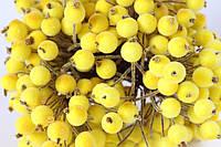 Сахарные ягодки (калина в сахаре),  38-40 шт/уп. желтого цвета