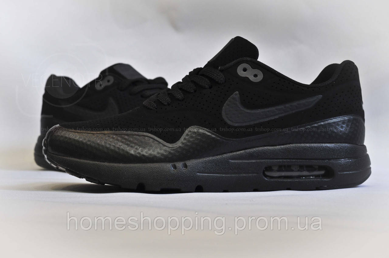 Кроссовки Nike Air Max 1 Ultra Moire Triple Black