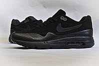 Кроссовки Nike Air Max 1 Ultra Moire Triple Black, фото 1