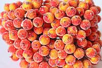 Сахарные ягодки (калина в сахаре),  38-40 шт/уп. желто-оранжевого цвета , фото 1