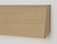 Плинтус деревянный напольный шпонированный Дуб Бейлиз профиль Рустик 60х19х2200 мм
