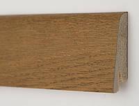 Плинтус деревянный для пола шпонированный Дуб Медовый профиль Рустик 60х19х2200мм