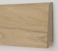 Деревянный плинтус для пола 80х19х2200мм. Дуб шлифованный