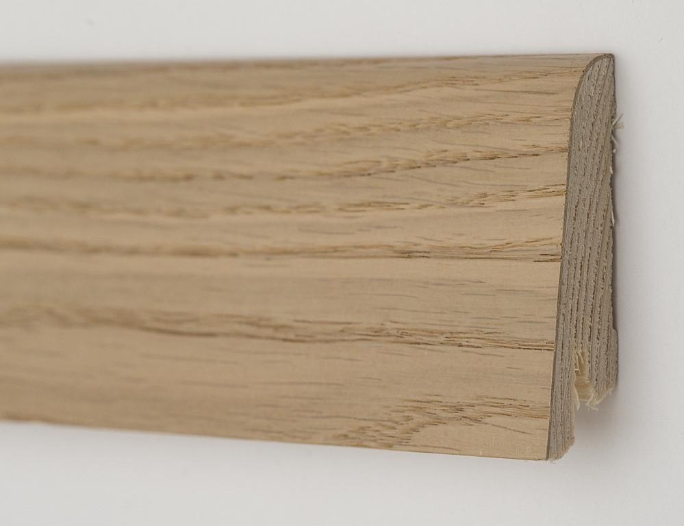 Деревянный плинтус напольный 80х19Х2200мм. Дуб карамельный