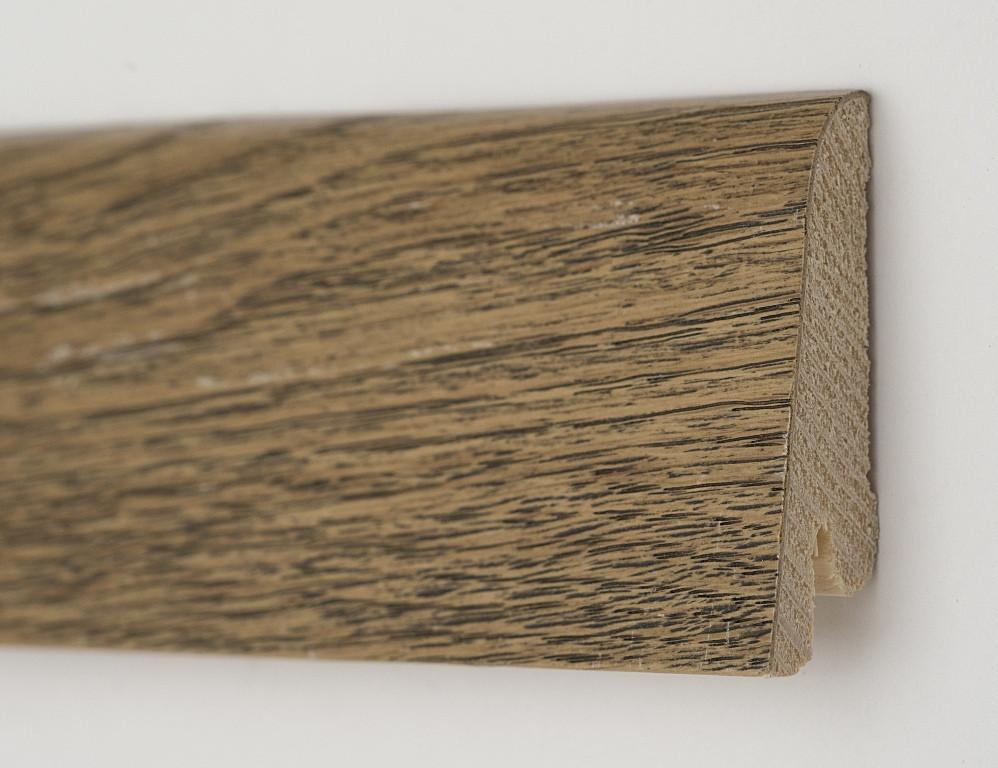 Деревянный плинтус для пола 80х19х2200мм. Дуб Античный
