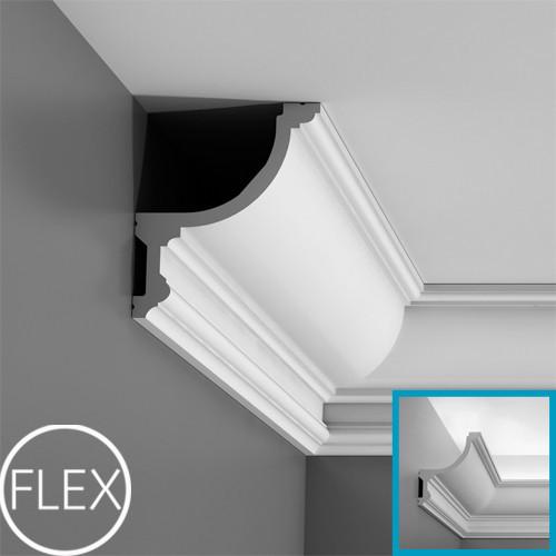Лепнина Орак декор C901F Карниз для скрытого освещения гибкий  Orac Luxxus