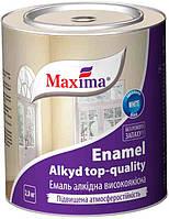 """Эмаль алкидная высококачественная, белая матовая ТМ""""MAXIMA""""  2,8 кг"""