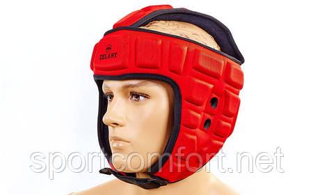 Шлем борцовский  Zelart полиуретан красный