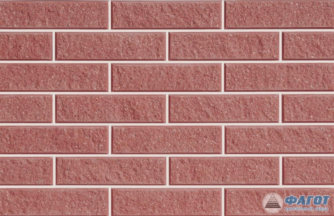 Декоративная фасадная плитка ФАГОТ мраморная красная