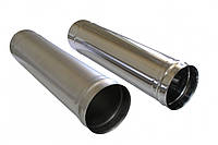 Купить нержавеющую трубу дымохода (толщина 1мм), (AISI 201) D = 100 мм, L = 0,3 М