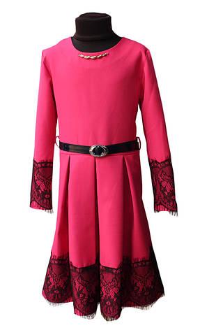 Платье для девочки Диана р.134-152 Малиновый, фото 2