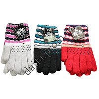 Женские перчатки 1301 (двойная вязка) оптом в Одессе