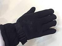 Перчатки флисовые двойные р.L/XL черные