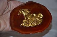 """VIP сувенир -миниатюра """"Лошадь на агате"""""""