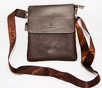 Мужскаясумка Louis Vuitton. Удобная сумка через плече. Стильная кожаная сумка. Сумка мессенджер. Код: КБН160