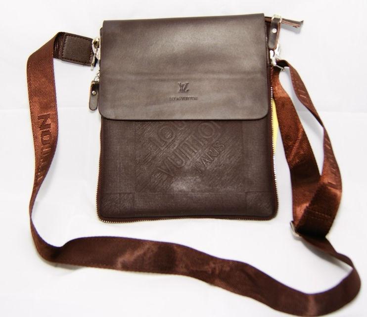 43c4066da14f Мужская сумка Louis Vuitton. Удобная сумка через плече. Стильная кожаная  сумка. Сумка мессенджер