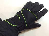 Перчатки горнолыжные мужские р.L (черные/салатовые)