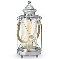 Настольный светильник [ LOFT Vintage - Bradford ] ( античное Серебро)