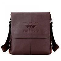 Мужская кожаная сумка Giorgio Armani. Сумка-планшетка. Полевая сумка. Стильная, удобная сумка. Код: КБН161
