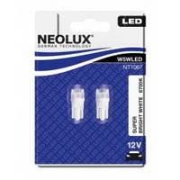 Лампа W5W NEOLUX (неолюкс) светодиод W5W LED 12V 1W W2,1X9,5D / СУПЕР ХОЛОДНЫЙ БЕЛЫЙ 6700K
