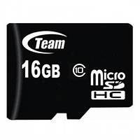 Карта памяти SD-micro 16Gb Team Class10 без адаптера (TUSDH16GCL1002)