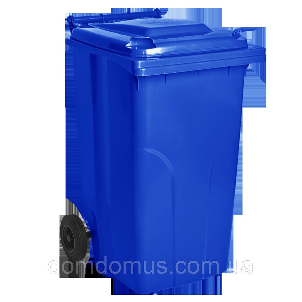 Бак мусорный на колесах 120 л Алеана, синий