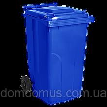 Сміттєвий Бак на колесах 120 л Алеана, синій