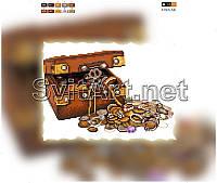 Схемы для вышивки бисером на подрамнике ХВ F-022. СУНДУК С СОКРОВИЩАМИ