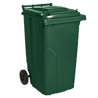 Бак мусорный на колесах 120 л Алеана, зеленый