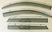 TUCSON 2015 ветровики с молдингом нерж сталь