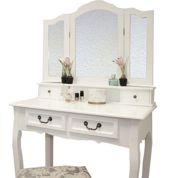 Туалетный столик Emma 80см с 3-ма зеркалами и табуретом