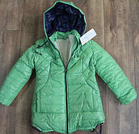 Зимнее пальто на меху для девочек 128- 140 рост