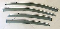 ELANTRA 2012 ветровики с молдингом нерж сталь
