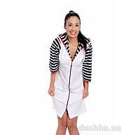 Женский халат на молнии Arya 13060 L белый