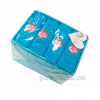 Набор из 4 махровых полотенец Arya Riva голубой 40х60 см - 4 шт
