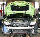 Декоративно-защитная сетка радиатора Renault Megane III фальшрадиаторная решетка, бампер, фото 3