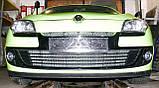 Декоративно-защитная сетка радиатора Renault Megane III фальшрадиаторная решетка, бампер, фото 8