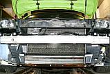 Декоративно-защитная сетка радиатора Renault Megane III фальшрадиаторная решетка, бампер, фото 4