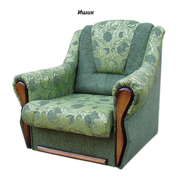 Кресло Квебек ткань Ишик зелёный