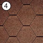 Битумная черепица RoofShield Стандарт 0.0, 25, Плоская, Классик коричневый