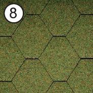 Битумная черепица RoofShield Стандарт 0.0, 25, Плоская, Классик зеленый