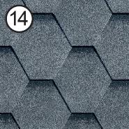 Битумная черепица RoofShield Стандарт 0.0, 25, Плоская, Классик серый