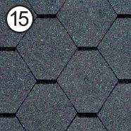 Битумная черепица RoofShield Стандарт 0.0, 25, Плоская, Классик графитно-черный