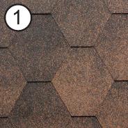 Битумная черепица RoofShield Стандарт 0.0, 25, Плоская, Классик медный