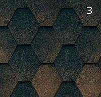 Битумная черепица RoofShield Стандарт 0.0, 25, Плоская, Классик коричневый антик