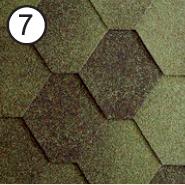 Битумная черепица RoofShield Стандарт 0.0, 25, Плоская, Классик зеленый антик