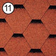 Битумная черепица RoofShield Стандарт 0.0, 25, Плоская, Классик кирпично-красный с оттенением